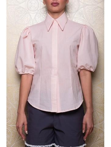 Camicia in lino misto cotone