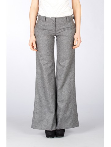 Pantalone in lana grigio